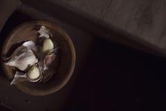 Шарик и cloves чеснока Стоковая Фотография