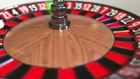 Шарик колеса рулетки казино ударяет 25 двадцать пять красных E иллюстрация штока