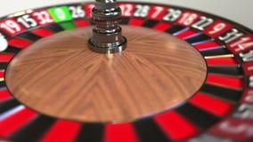 Шарик колеса рулетки казино ударяет 21 21 красное E иллюстрация штока
