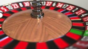 Шарик колеса рулетки казино ударяет 16 16 красных E иллюстрация штока