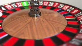 Шарик колеса рулетки казино ударяет 2 2 черного E бесплатная иллюстрация