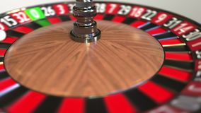 Шарик колеса рулетки казино ударяет 4 4 черного E иллюстрация вектора