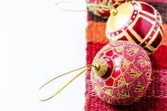Шарик красного цвета украшения рождества Стоковое фото RF