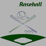 Шарик крышки бейсбольной биты Стоковое Изображение RF