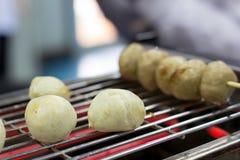 Шарик мяса выпечки и шарик свинины на электрической плите, g Стоковое Изображение RF