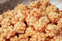 Шарик мяса креветок зажаренный в блюде стоковые фотографии rf