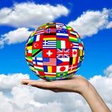 Шарик национальных флагов Стоковые Фотографии RF