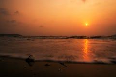 Шарик на пляже Стоковое Изображение