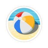 Шарик пляжа бесплатная иллюстрация