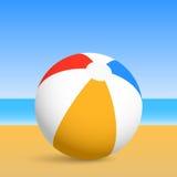 Шарик пляжа. 2d иллюстрация иллюстрация вектора
