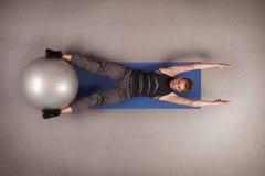 шарик работая подходящую стабилность человека Стоковые Изображения RF