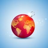 Шарик рождества глобуса иллюстрация штока