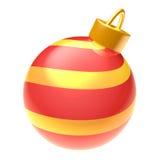 Шарик рождества изолированный на белой предпосылке Стоковая Фотография RF