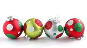 Шарик рождества на белой предпосылке Стоковое фото RF
