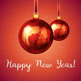 Шарик рождества стилизованный как покрашено с помарками Стоковое Изображение