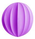 Шарик рождества бумажный - фиолет Стоковое Изображение RF