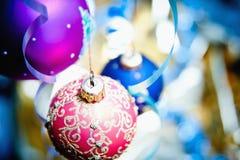 Шарик рождества крупного плана Стоковое Фото
