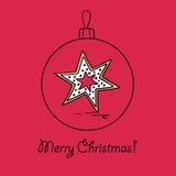 Шарик рождества с звездой Стоковое Фото