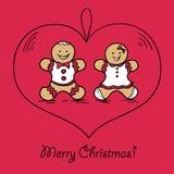 Шарик рождества с украшением пряника Стоковое Изображение RF