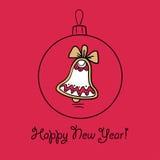 Шарик рождества с украшением Стоковое Изображение