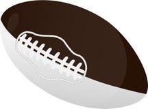 Шарик рэгби или американского футбола, изолированный на белой предпосылке стоковое изображение rf