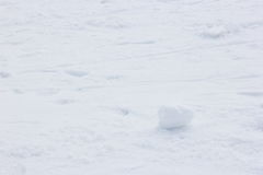 Шарик снега на поле снега Стоковые Изображения RF