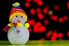 Шарик снеговика и красного света Стоковое Изображение RF
