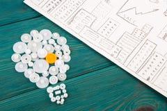 шарик составленный шестерней и эскизов диаграмм Стоковые Изображения RF