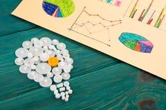 шарик составленный шестерней и эскизов диаграмм Стоковые Изображения