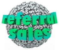 Шарик сферы знака доллара денег слов продаж направления иллюстрация вектора