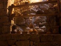 шарик сыра внутри погреба в процессе заквашивания в Мехико стоковые фотографии rf
