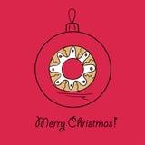 Шарик с венком рождества Стоковое Фото