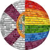 Шарик с флагами Флориды и гомосексуалиста - иллюстрацией Стоковая Фотография RF