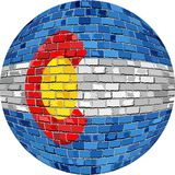 Шарик с флагом Колорадо Стоковые Фото