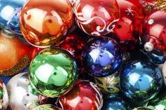 Шарик текстуры шарика безделушек безделушки рождества реальный стеклянный Шарики рождества, празднуют праздник рождества с красоч Стоковые Изображения