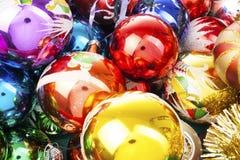 Шарик текстуры шарика безделушки рождества реальный стеклянный Шарики безделушек рождества, празднуют праздник рождества с красоч Стоковая Фотография