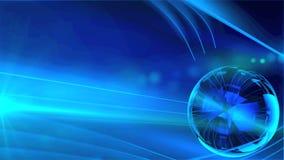 Шарик фантазии стекловатый отражает голубые света видеоматериал