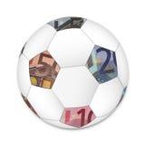 Шарик футбола евро стоковые изображения