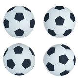 Шарик футбола на белизне Стоковое Фото