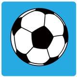 Шарик футбола вектора (футбол) Стоковые Изображения