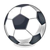 Шарик футбола изолированный на белой предпосылке Искусство цветного барьера Стоковая Фотография