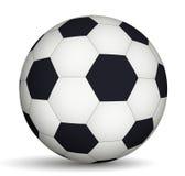 Шарик футбола черно-белый иллюстрация штока