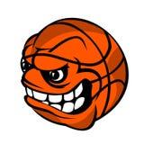 Шарик шаржа баскетбола Стоковое Изображение RF