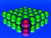 шарик 3d различный Стоковые Изображения RF