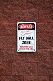 шарик beware зона мухы Стоковое Изображение RF
