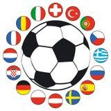 шарик flags футбол Стоковое Изображение