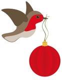 Шарик Robin и рождества Стоковые Изображения