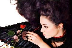 шарлах красивейшей черноты ангела розовый Стоковые Фото