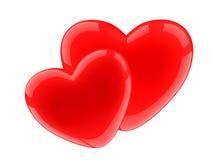 шарлах 2 сердец Стоковое Фото