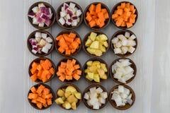 16 шаров овощей корня Стоковые Фотографии RF